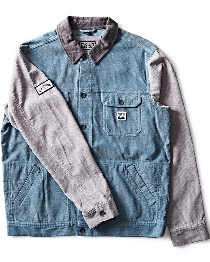 2 The Cord Jacket Blue M712QBTC Billabong
