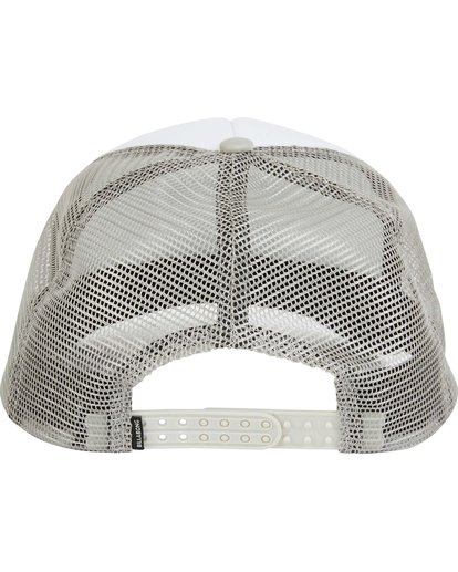 3 Podium Trucker Hat Grey MAHTGPOD Billabong