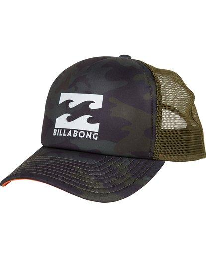 0 Podium Trucker Hat Green MAHTGPOD Billabong