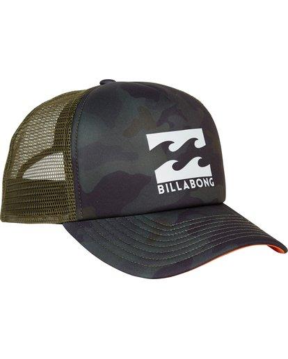 2 Podium Trucker Hat Green MAHTGPOD Billabong
