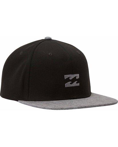 2 All Day Snapback Hat Black MAHTLADS Billabong