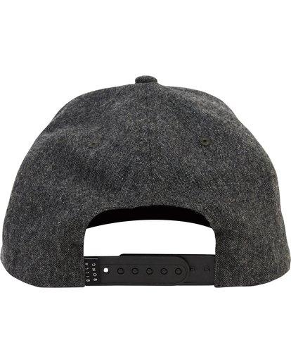 3 All Day Heather Snapback Hat Black MAHTLAHS Billabong