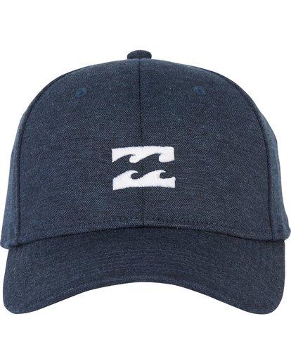 1 All Day Heather Stretch Fit Hat Blue MAHWNBAH Billabong