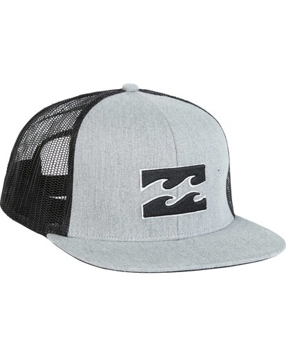 2 All Day Trucker Hat Grey MAHWNBAR Billabong