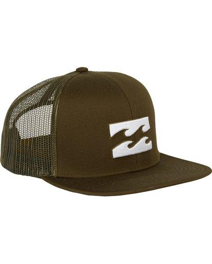 2 All Day Trucker Hat Green MAHWNBAR Billabong