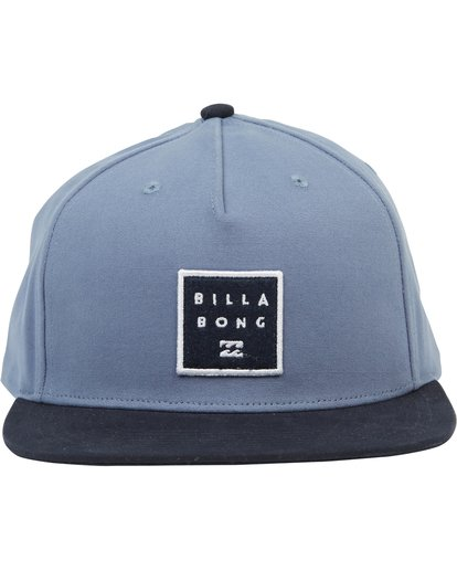1 Stacked Snapback Hat Blue MAHWNBAS Billabong