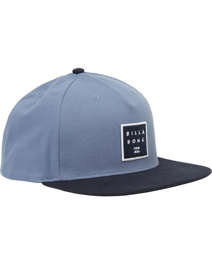 2 Stacked Snapback Hat Blue MAHWNBAS Billabong
