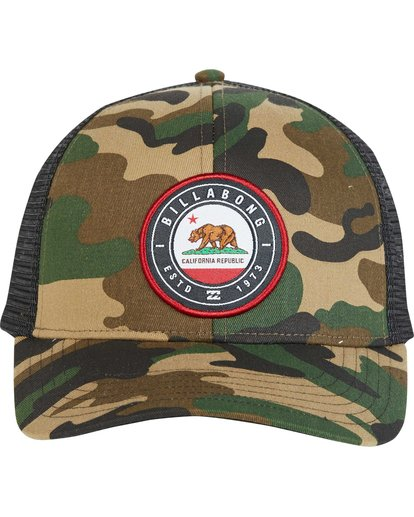 1 Native Rotor Camo Trucker Hat  MAHWNBCN Billabong