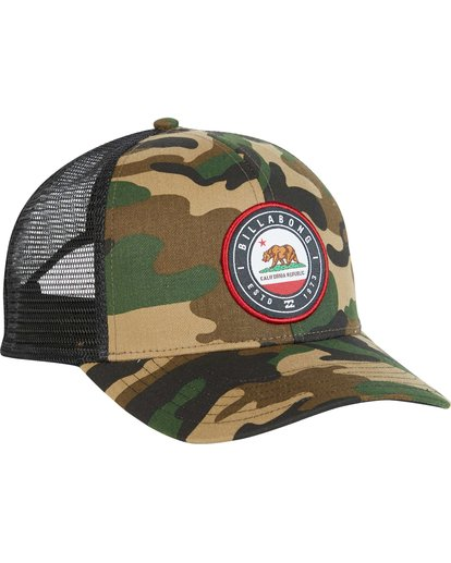 2 Native Rotor Camo Trucker Hat  MAHWNBCN Billabong