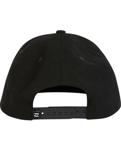 3 Oxford Snapback Hat Black MAHWNBOX Billabong