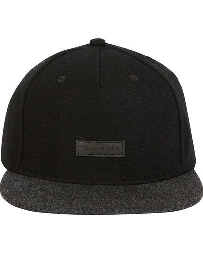 1 Oxford Snapback Hat Black MAHWNBOX Billabong