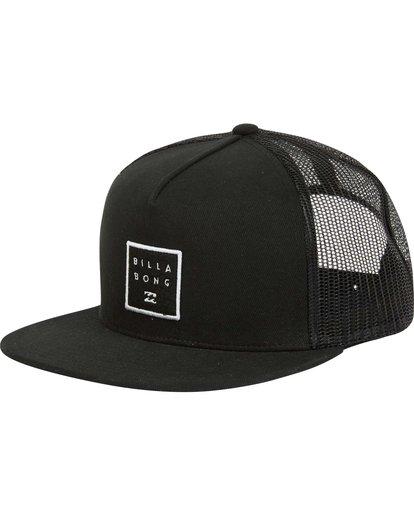 0 Stacked Trucker Hat Black MAHWNBST Billabong