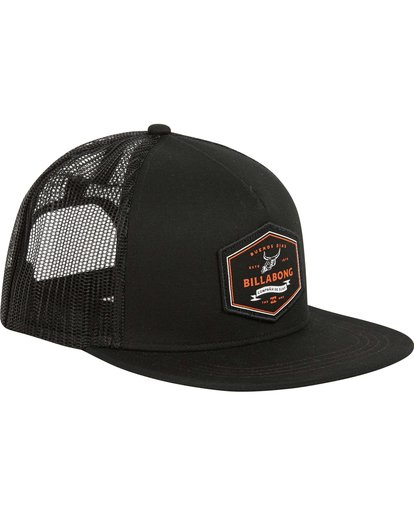 2 Flatwall Trucker Hat Black MAHWPBFW Billabong