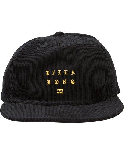 1 Boneless Corduroy Snap Back Hat Black MAHWSBBO Billabong