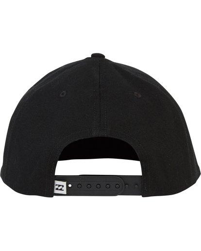 3 Plateau Twill Snap Back Hat Black MAHWSBPL Billabong