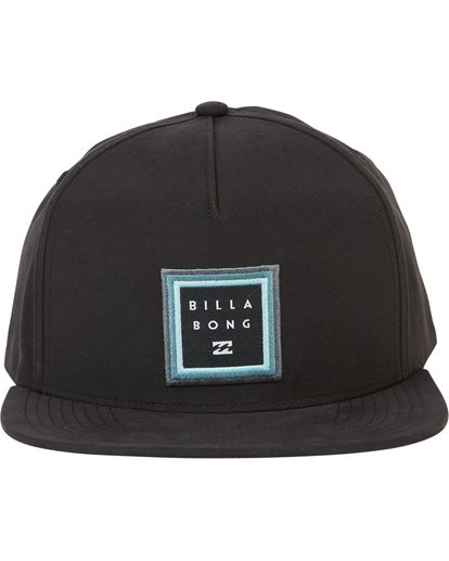 1 Stackedfade Twill Snap Back Hat Black MAHWSBSF Billabong