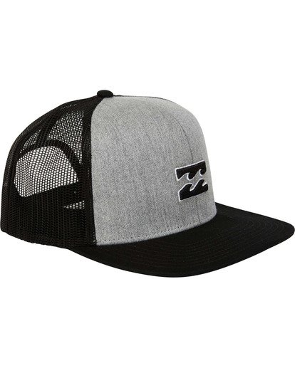 2 All Day Trucker Hat Grey MAHWTBAR Billabong