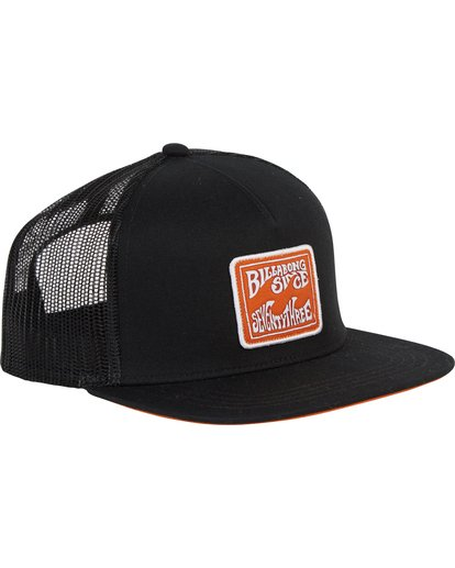 2 Flatwall Trucker Hat Black MAHWTBFW Billabong