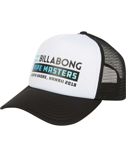 0 Pipe Masters Trucker Hat Black MAHWTBPM Billabong