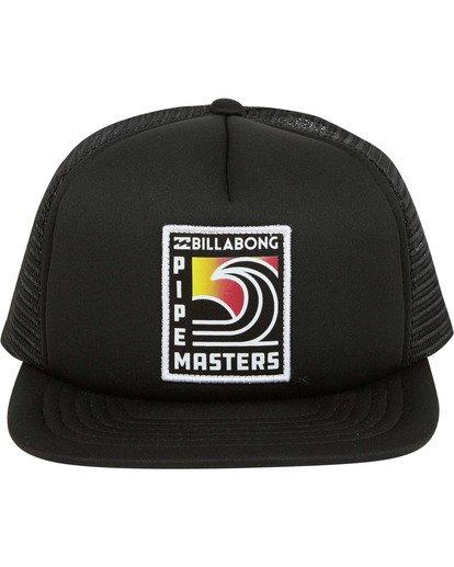 1 Pipe Trucker Hat Black MAHWTBPT Billabong