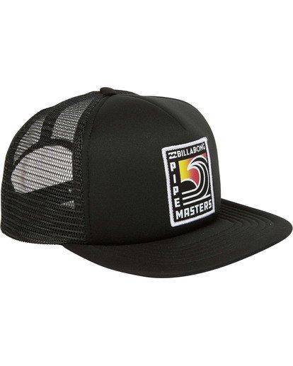 2 Pipe Trucker Hat Black MAHWTBPT Billabong