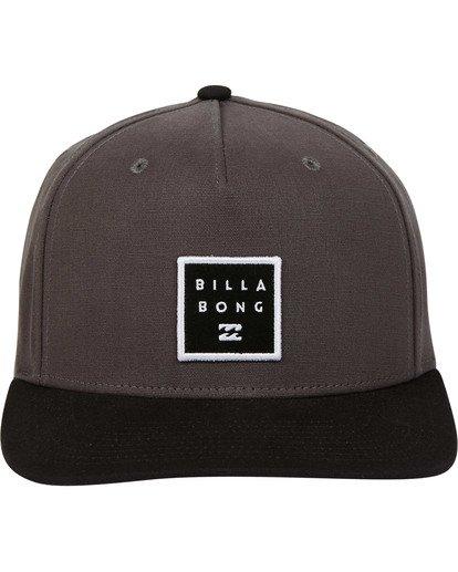 1 Stacked Snapback Hat Grey MAHWTBSS Billabong