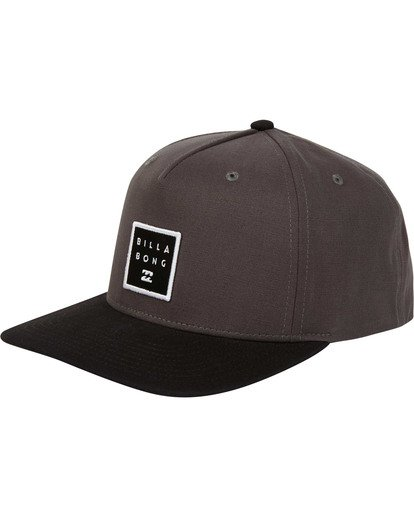 0 Stacked Snapback Hat Grey MAHWTBSS Billabong