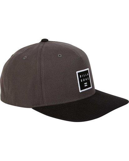 2 Stacked Snapback Hat Grey MAHWTBSS Billabong