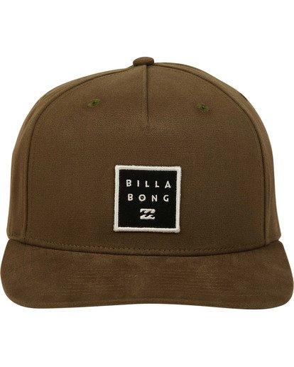 1 Stacked Snapback Hat  MAHWTBSS Billabong