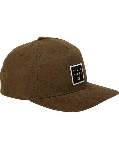 2 Stacked Snapback Hat Camo MAHWTBSS Billabong