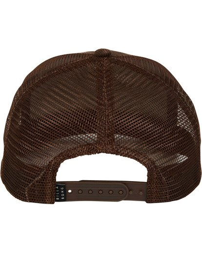 3 Stacked Trucker Hat Brown MAHWTBST Billabong