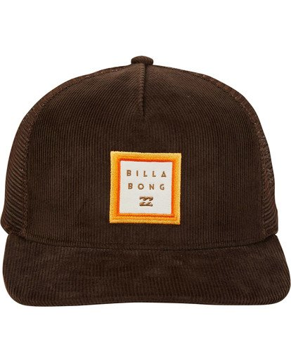 1 Stacked Trucker Hat Brown MAHWTBST Billabong