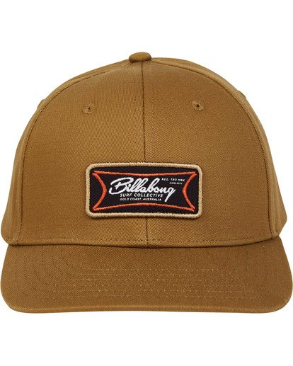 1 Walled Snapback Hat Brown MAHWTBWS Billabong