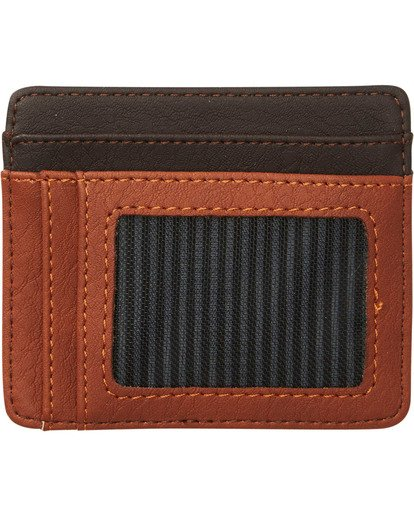 1 Dimension Card Holder Wallet Brown MAWTNBDC Billabong