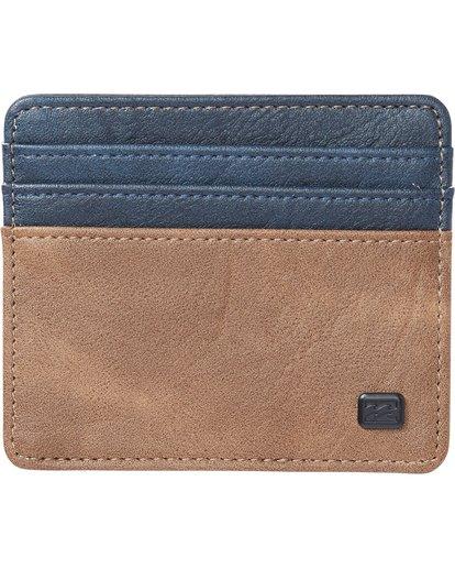 0 Dimension Card Holder Wallet Blue MAWTNBDC Billabong