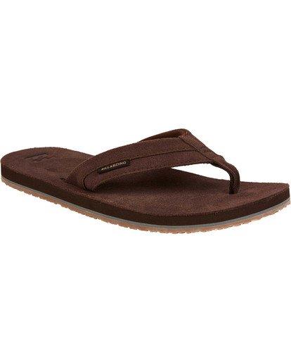 1 All Day Leather Sandals Brown MFOTTBAL Billabong