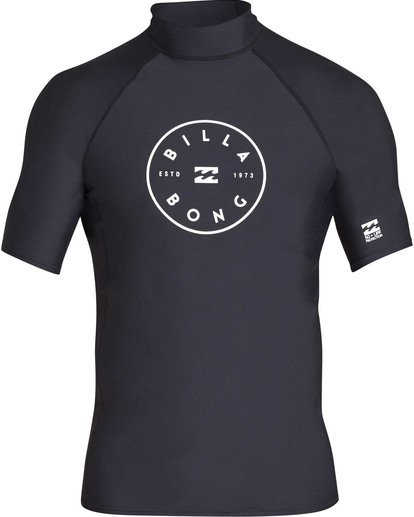 0 Rotor Performance Fit Short Sleeve Rashguard Black MR01TBRO Billabong
