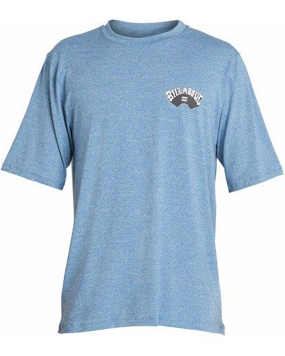 0 Dicer Loose Fit Short Sleeve Rashguard Blue MR03NBDI Billabong