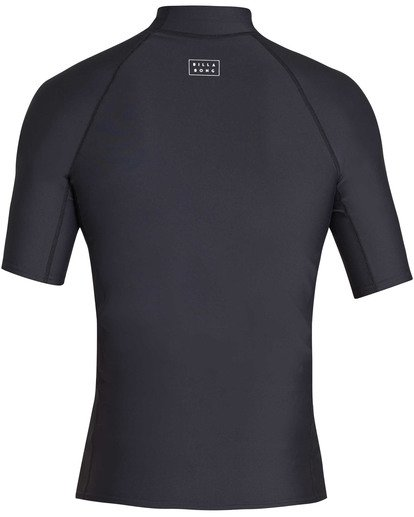 1 All Day Wave Performance Fit Short Sleeve Rashguard Black MR03TBAL Billabong