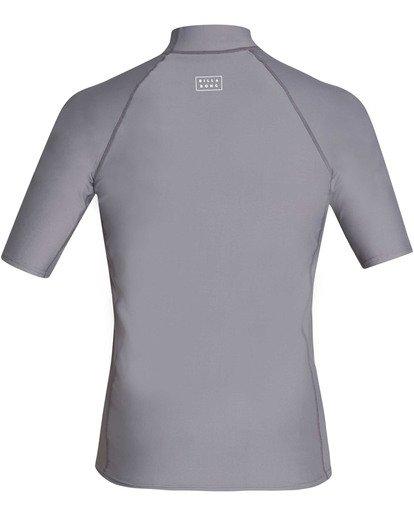 1 All Day Wave Performance Fit Short Sleeve Rashguard Grey MR03TBAL Billabong