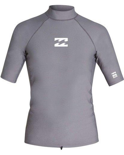 0 All Day Wave Performance Fit Short Sleeve Rashguard Grey MR03TBAL Billabong