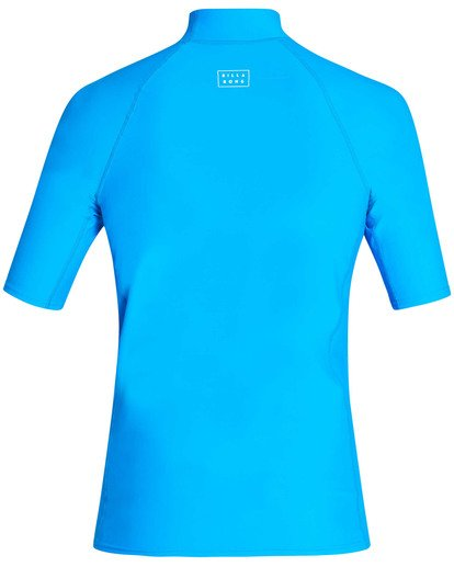 1 All Day Wave Performance Fit Short Sleeve Rashguard Blue MR03TBAL Billabong