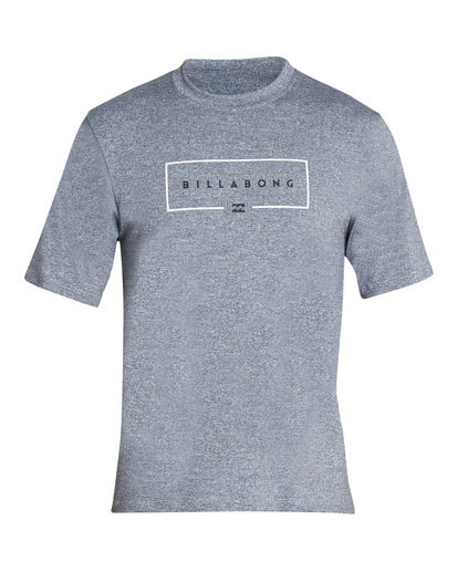 0 Union Loose Fit Short Sleeve Rashguard Grey MR06TBUN Billabong