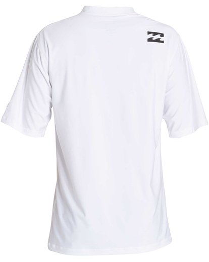 1 All Day Wave Loose Fit Short Sleeve Rashguard White MR07NBWL Billabong