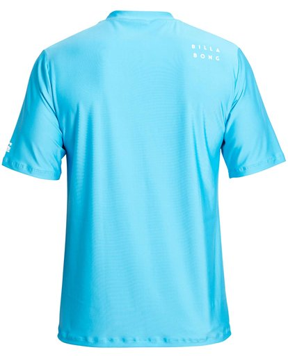 1 Stacked Loose Fit Short Sleeve Rashguard Blue MR09NBST Billabong