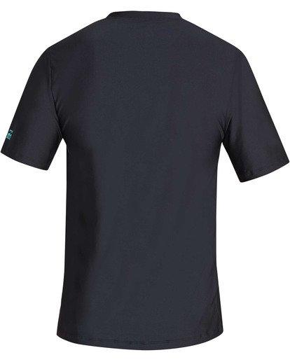 1 Stacked Loose Fit Short Sleeve Rashguard Black MR09TBST Billabong