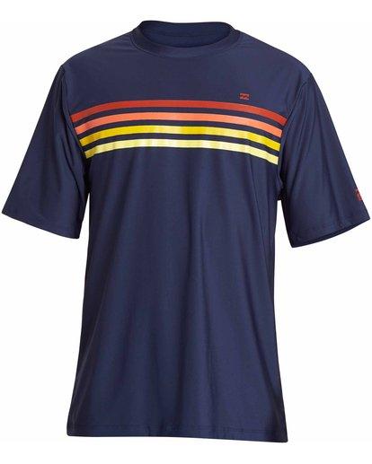 0 Team Stripe Loose Fit Short Sleeve Rashguard Blue MR11NBTS Billabong