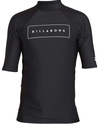 0 All Day United Performance Fit Short Sleeve Rashguard Black MR12NBAU Billabong