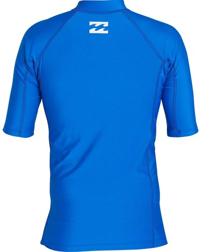 1 All Day United Performance Fit Short Sleeve Rashguard Blue MR12NBAU Billabong