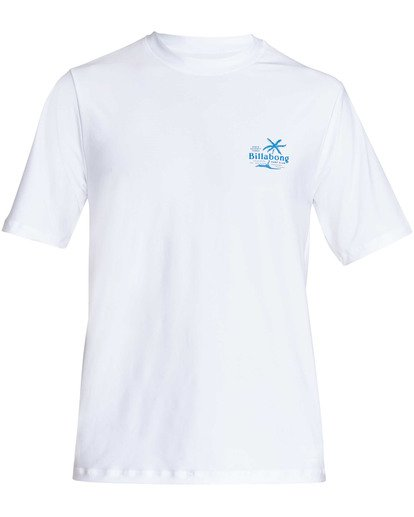0 Surf Club Loose Fit Short Sleeve Rashguard White MR24TBSU Billabong